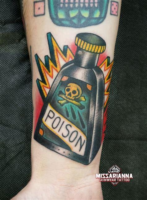 new school bottle tattoo 18 sinister poison bottle tattoos tattoodo