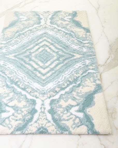 Abyss Habidecor Geode Bath Rug Neiman Marcus Blue And White Bathroom Rugs