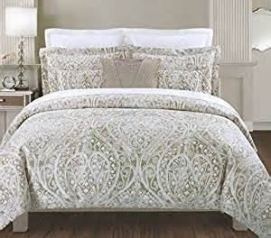 amazon com tahari home beige tan silver king comforter