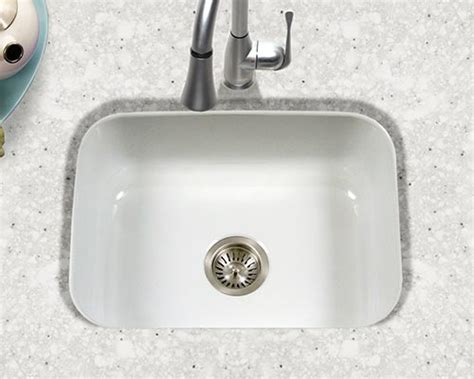 porcelain undermount bowl kitchen sink houzer porcelain enameled steel kitchen sinks