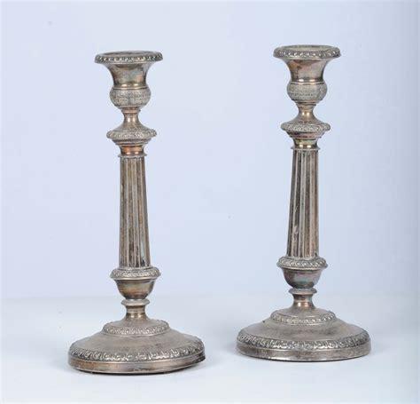 candelieri in argento coppia di candelieri in argento torino 1845 argenti e