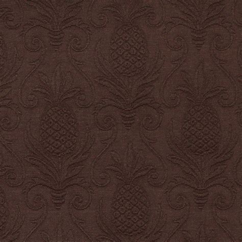Upholstery Grade Fabric by Brown Pineapples Woven Matelasse Upholstery Grade Fabric