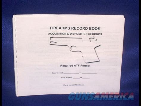 Ffl Bound Book 150 Entry Acquisition Disposit For Sale Ffl Bound Book Template