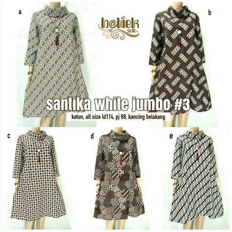 tunik santika white 3 batik shopee indonesia