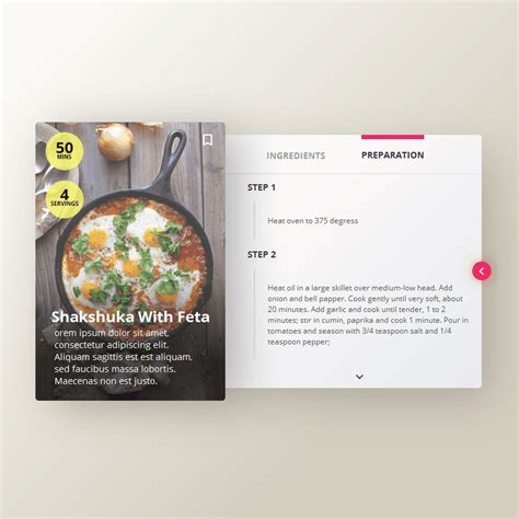 javascript card layout recipe card coding code css css3 html html5 javascript