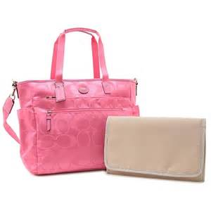 couch diaper bags coach bnwt coach f77577 diaper buisness bag large hot pink