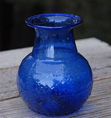 Cobalt Blue Vase by Cobalt Blue Glass Vase 5 Quot X 4 Quot
