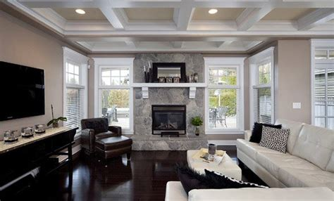 coffered ceilings   contemporary living rooms home
