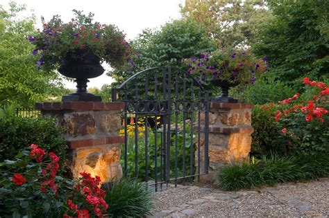Iron Planters For Outdoors by Wrought Iron Planters Landscape Traditional With Filagree