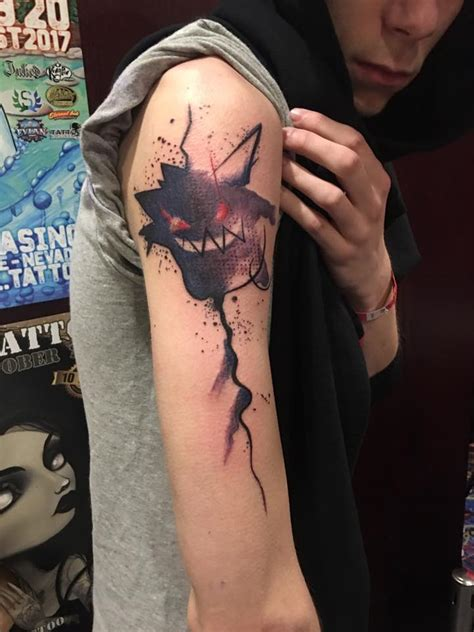gengar tattoo abstract gengar go moments