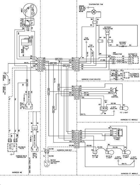 maytag refrigerator wiring diagram wiring information diagram parts list for model pbf1951kew maytag parts refrigerator parts