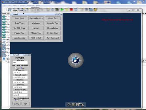 tutorial qemu ubuntu brainbump net gt gt gns3 add gui qemu host tinycore ccie