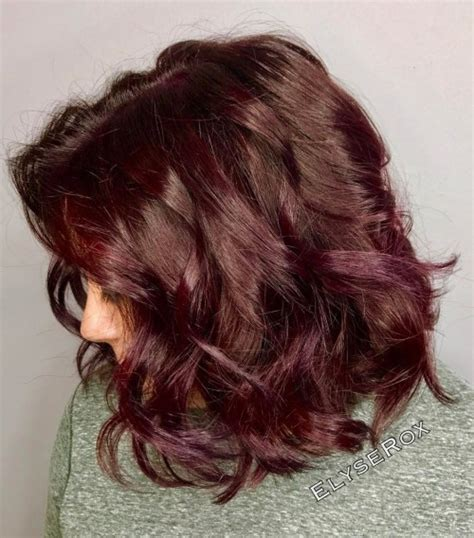 chocolate plum hair color 2017 plum hair colors for your next appointment best