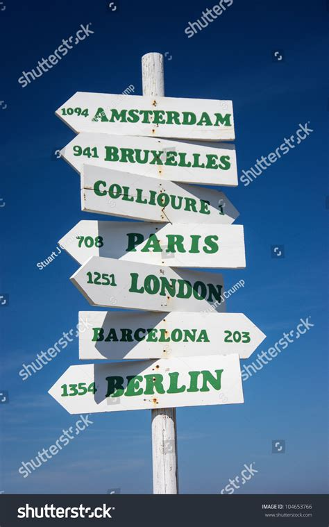 distance between major cities of the world a sign post showing distances in kilometers to some of