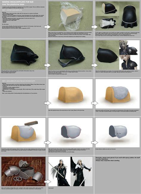 tutorial wig bjd shoulderplates making tutorial by scargeear on deviantart