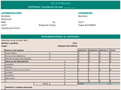 modelo de liquidacin de expensas losconsorcistascomar registro p 250 blico de administradores de la caba