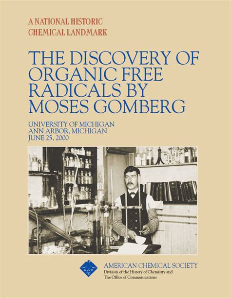 legacy of discovery liberate your senses books moses gomberg and organic free radicals national