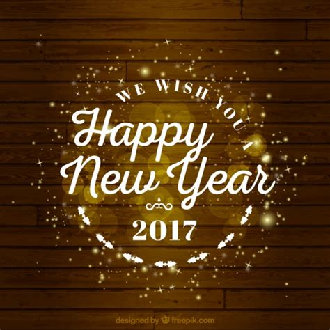 lovely happy new year background vector free download