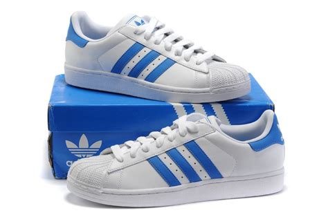 cheap real shoes adidas originals superstar 2 mens white and light blue store 2016