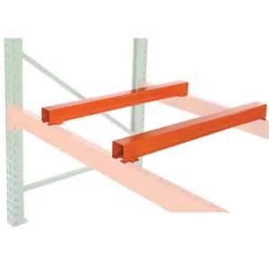 pallet rack accessories fork entry bars wireway husky