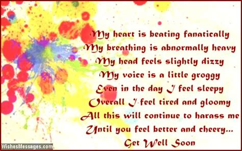 Get Well Soon Gf Quotes by Get Well Soon Poems For Boyfriend Wishesmessages