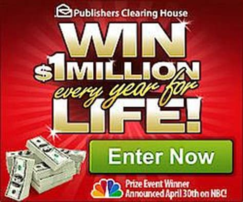 Sweepstakes Clearinghouse Catalog - pch 1 million every year for life sweepstakes these are great energy drinks