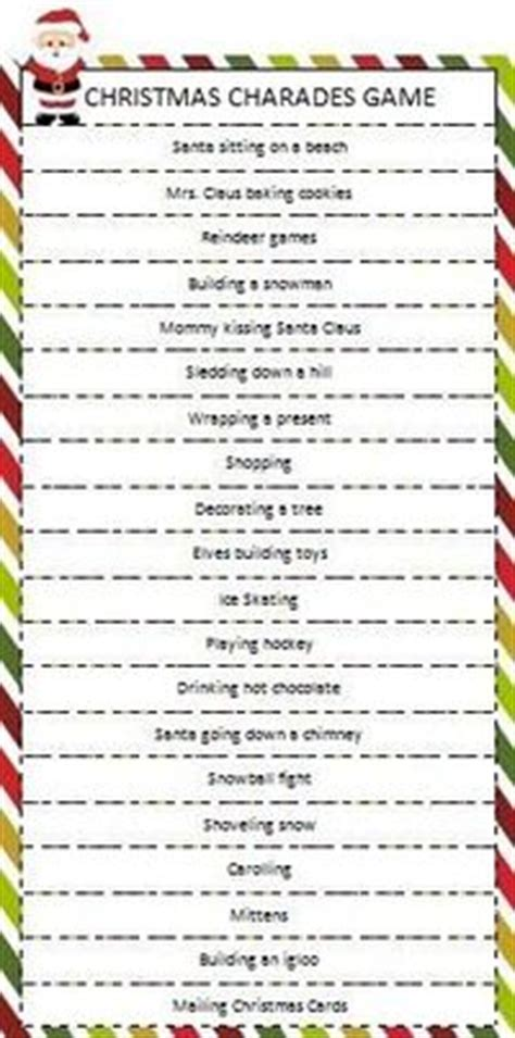 christmas charades game free printable christmas