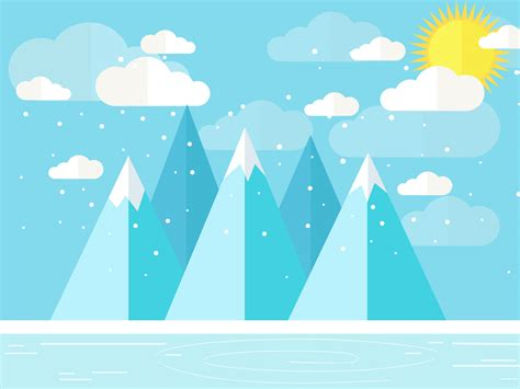 winter powerpoint template winter landscape backgrounds blue nature white yellow