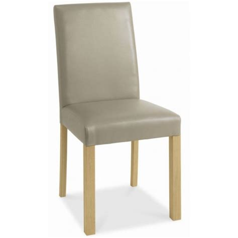Grey Oak Upholstered Dining Chair Padded Dining Room Chairs