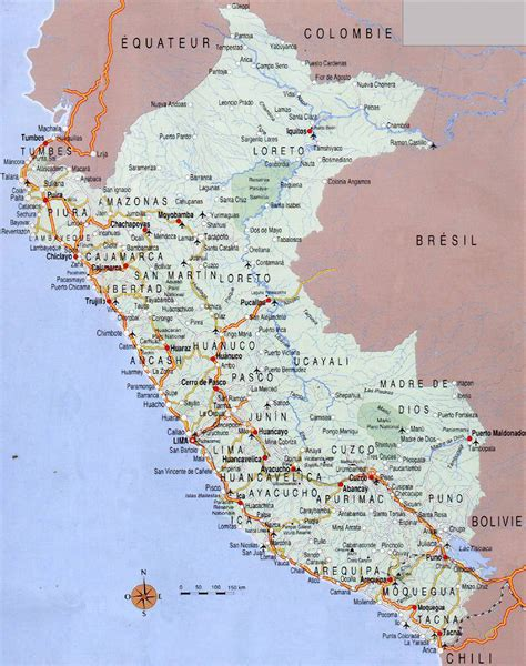 road map of peru large detailed road map of peru with airports peru large