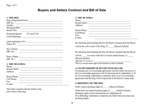 buyer seller contract template image gallery sellers contract
