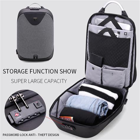 Adevs Tas Ransel Laptop Slot Charger Usb tas ransel dengan kunci tas ransel laptop dilengkapi