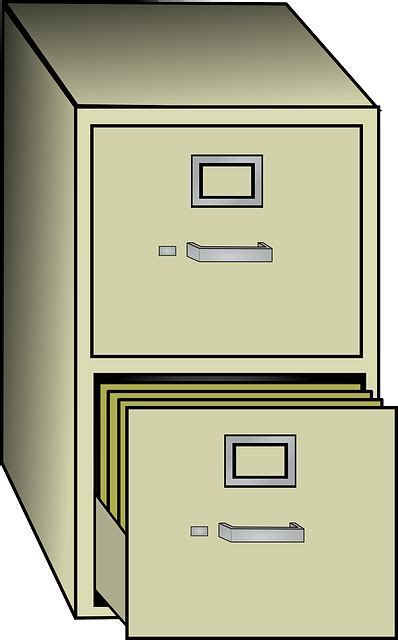 Free vector graphic: Filing, Cabinet, Metal, Office   Free