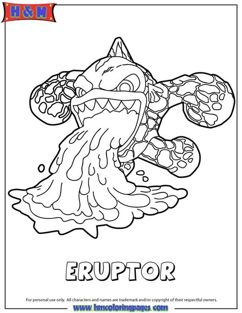 skylanders swap force fire eruptor serie3 coloring page