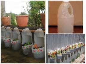 recycle it plastic bottles as hanging planters