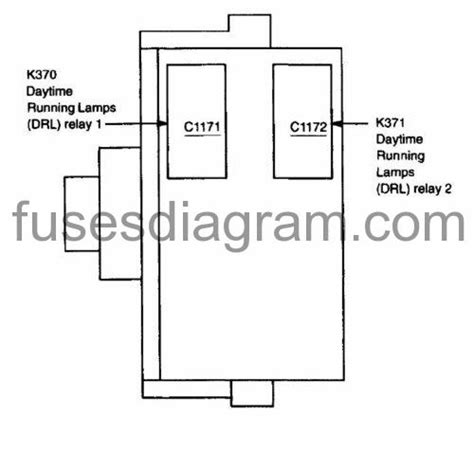 fuses  relay box diagram ford