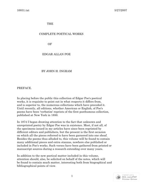 The Complete Poetical Works of Edgar Allan Poe - Download