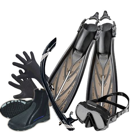 dive equipment packages personal scuba gear packages warm water and cold water