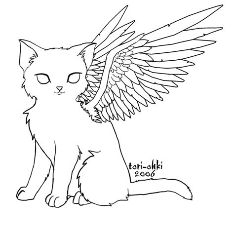 angel kitty coloring pages for to color angel cat by tori ohki deviantart com cat