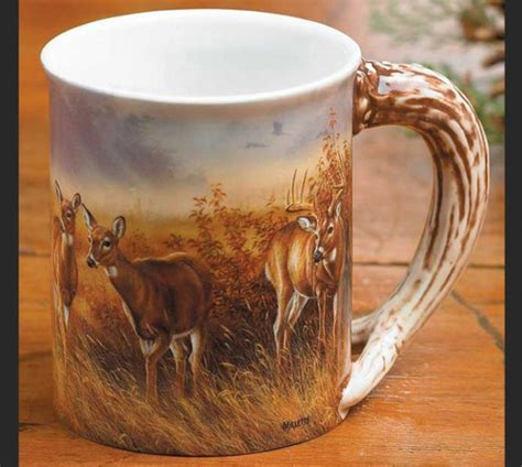 Big Bucks Coffee whitetail deer sculpted coffee mug