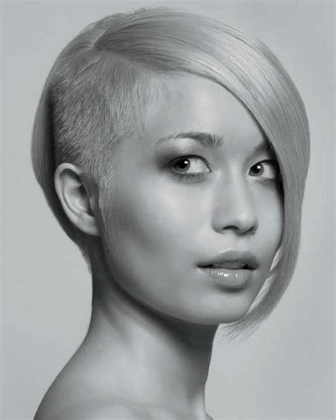 short bob haircuts shaved on one side women with one side shaved haircut 2013 short hairstyle 2013