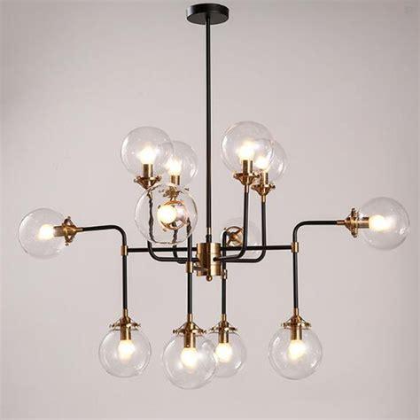 Discount Chandelier Lamp Shades 12 Heads Modern Shade Glass Chandelier Light E14 Bulb Led