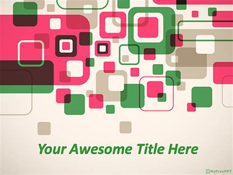 Free Abstract Squares Powerpoint Template Download Free Powerpoint Ppt Squares Powerpoint Template