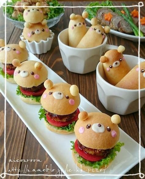 日本人のごはん お弁当 パン japanese meals bento bread 熊バーガー burgers all things cool and