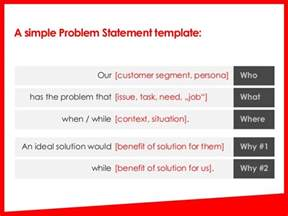 Business Problem Statement Template Quot The Problem Is We Don T Understand The Problem Quot Problem