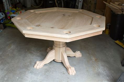 Pedestal Poker Table Octagon Poker Table Part 5 Finishing It Up Brian Nelson