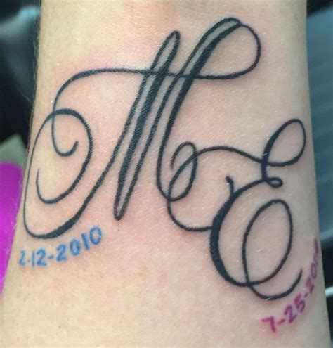 couples initials tattoos best 25 initial tattoos ideas on