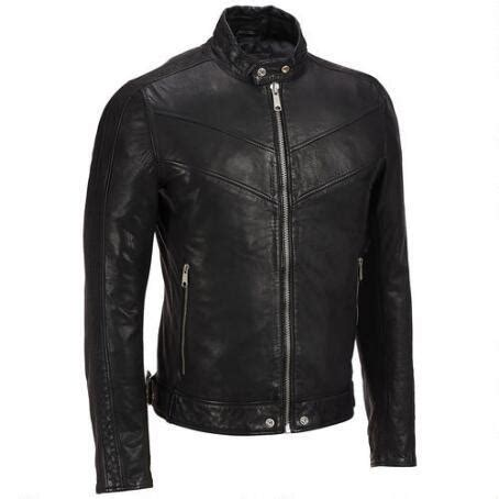 Handmade Leather Motorcycle Jackets - handmade mens black leather jacket blasck bomber