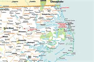 outer banks tourist map area map outer banks nc 2017