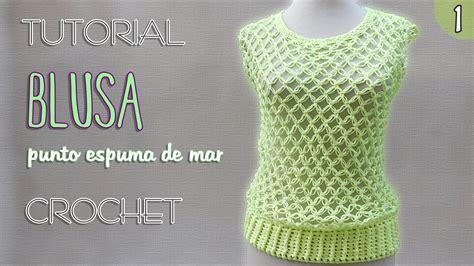 aprende a tejer blusas a crochet paso a paso learn knit easy crochet blusa punto nudo salomon 1 de 3 tutorial crochet paso